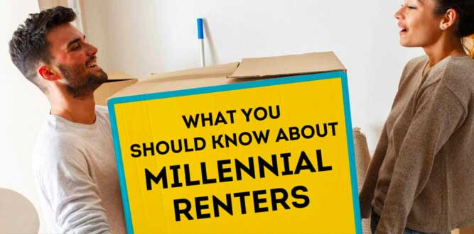 infographic on millennial renters